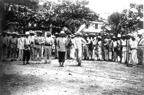 Filipino soldiers at Malolos