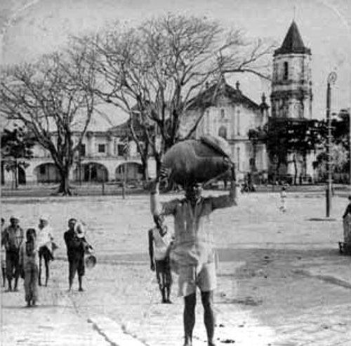 Malolos: The church and smoking ruins of Aguinaldo's ...